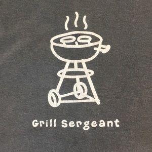 Life is Good grill tshirt